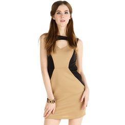 59 Seconds - Two-Tone Sleeveless Dress