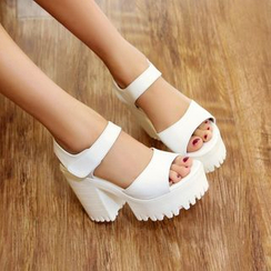 JY Shoes - Platform Heeled Sandals