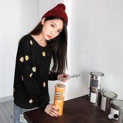 OrangeBear - Emoji Face Fleecy Pullover