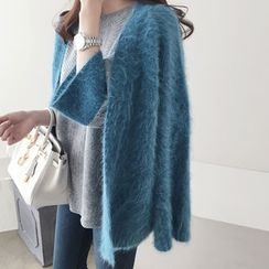 DAILY LOOK - Open-Front Wool Blend Cardigan