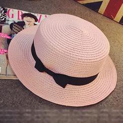 Hats 'n' Tales - Bow Straw Hat