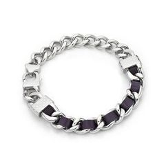 Kenny & co. - Purple Leather Screw Bracelet