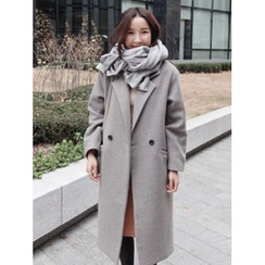 maybe-baby - Double-Breasted Wool Blend Coat