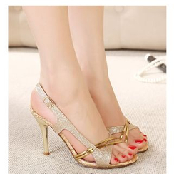 Freesia - Panel High-heel Sandals