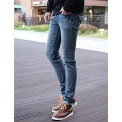 STYLEMAN - Washed Slim-Fit Jeans