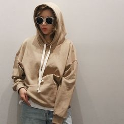 NANING9 - Cotton Drawstring Hooded Pullover