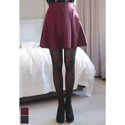 MyFiona - Wool Blend A-Line Mini Skirt