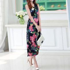 Isadora - Floral Print Sleeveless Midi Dress