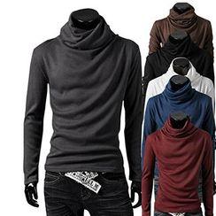 Fireon - Cowl Neck Long-Sleeve T-Shirt
