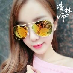 Reveries - Mirrored Aviator Sunglasses