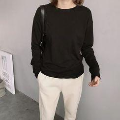 ByPeggie - Long-Sleeve Plain T-Shirt