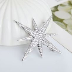 Crystal Midsummer - Rhinestone Star Brooch