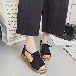 Zandy Shoes - Tie-Front Flat Sandals