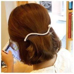 Aurabe - Rhinestone Pearl Hair Band