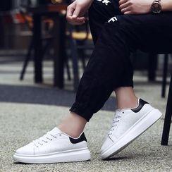 MR.GONG - 拼接皮革休閒鞋