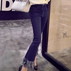 Iscat - Frayed Boot Cut Jeans