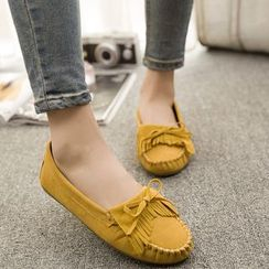 Weiya - Fringed Loafers