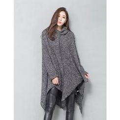 GUMZZI - Cowl-Neck Rib-Knit Dress