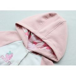 GOGO Girl - Strawberry Embroidered Hooded Jacket