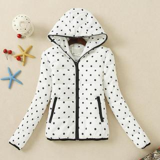 JVL - Hooded Dotted Puffer Jacket