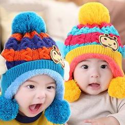 POMME - 童装球球装饰无边帽