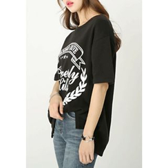 REDOPIN - Printed Fleece-Lined T-Shirt