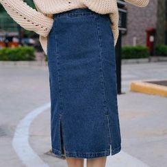 Yohana - Midi Denim Skirt