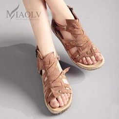 MIAOLV - Strappy Flat Sandals