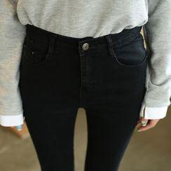 Denimot - 纯色窄身牛仔裤