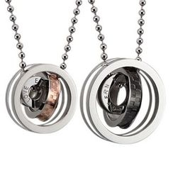 Tenri - Multi-Ring Couple Matching Stainless Steel Necklace