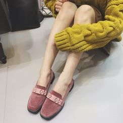 Crystella - 植毛绒乐福鞋