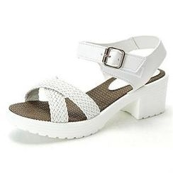 MODELSIS - Braided-Strap Platform Sandals