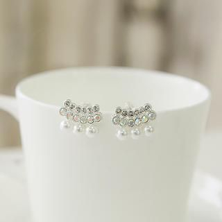 soo n soo - Rhinestones & Beads Earrings