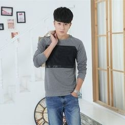 INSO - Color Panel Long Sleeve T-Shirt