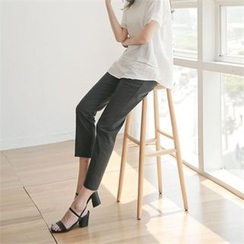 Styleberry - Band-Waist Pleated-Front Pants