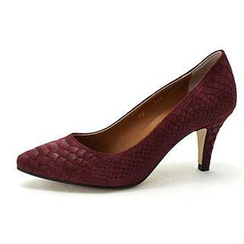 MODELSIS - Snake Print Genuine Leather Pumps