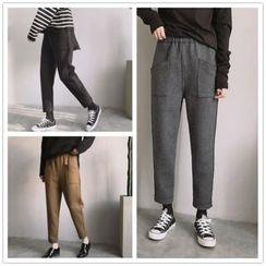 Whitney's Shop - Plain Knit Harem Pants