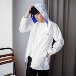 MEING - Hooded Drawstring Light Jacket