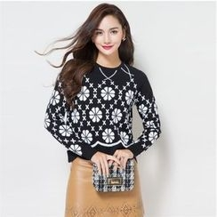 Romantica - Wool Patterned Knit Top