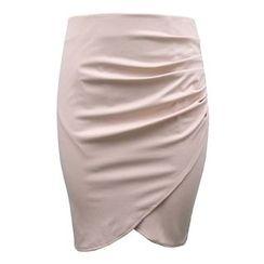 Blue Tune - Plain Wrap Skirt