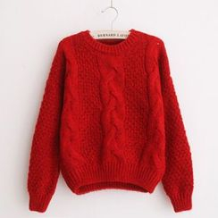 Penguin Island - Cable Knit Sweater