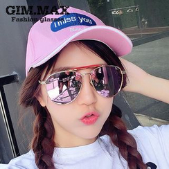 GIMMAX Glasses - Mirrored Aviator Sunglasses