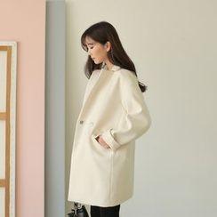 WITH IPUN - Oversized Notch-Lapel Coat