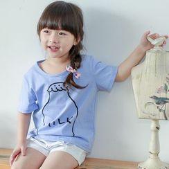 柠檬嘟嘟 - 小童印花短袖T恤