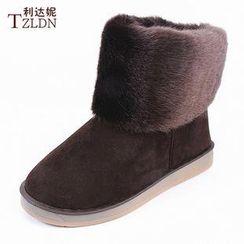 利达妮 - 时款短雪靴