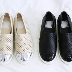 NANING9 - Perforated Slip-Ons