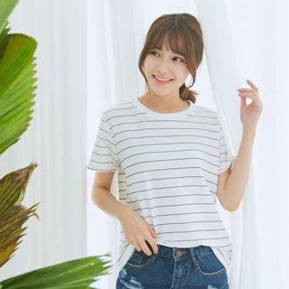 BAIMOMO - Stripe Short-Sleeve T-Shirt