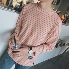 Breeson - Striped 3/4-Sleeve T-Shirt