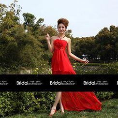 Bridal Workshop - Rosette Strapless High-Low Cocktail Dress