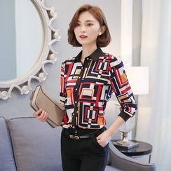 lilygirl - Patterned Chiffon Blouse